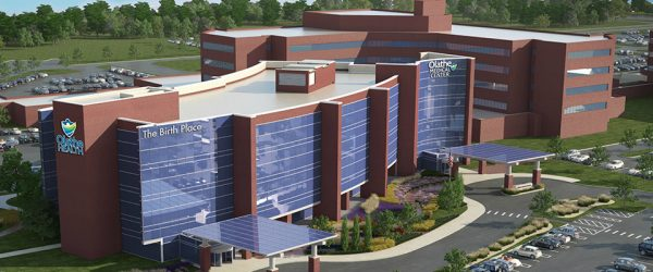 Obstetrics and Neonatal Intensive Care Unit (NICU) building at Olathe Medical Center